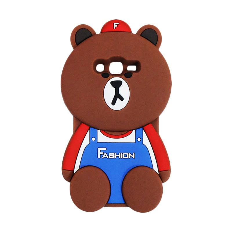 VR 3D Bear Fashion Edition Silicon Softcase Casing for Samsung Galaxy J2 Prime - Brown