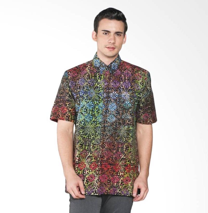 Batik Pria Tampan Rainbow Fleur De Lis PKMPD-04081671C Men Shirt - Multicolor