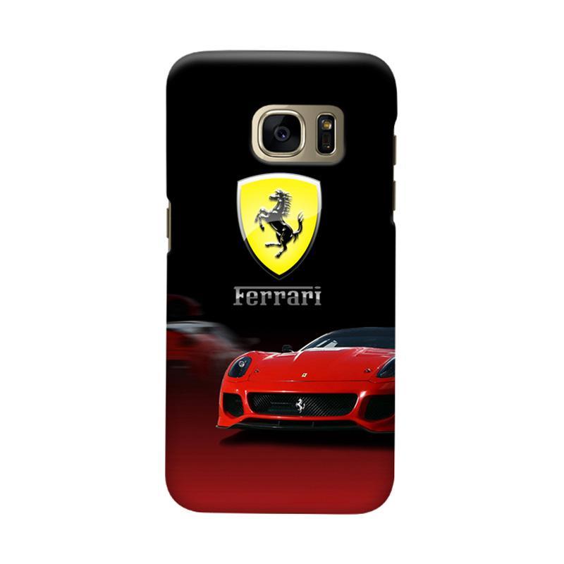 Indocustomcase Ferarri Super Car Cover Casing for Samsung Galaxy S6
