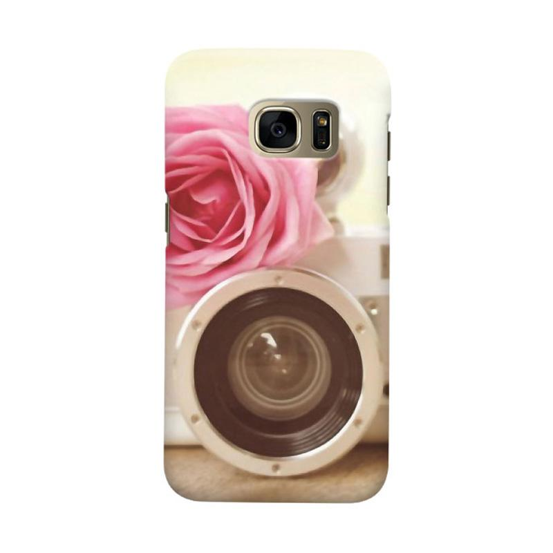 Indocustomcase Rose Camera Cover Hardcase Casing for Samsung Galaxy S7 Edge