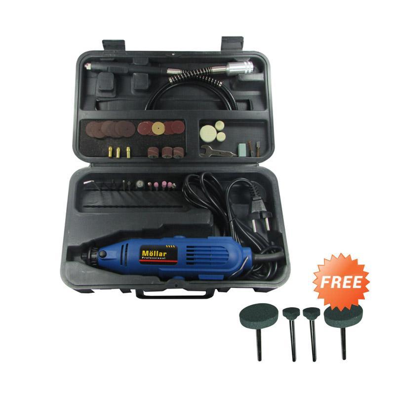 harga Mollar MiniDie Grinder Tuner Gerinda Bor Mini Multifungsi - Biru + Free Mata Asah Set GC120 Blibli.com