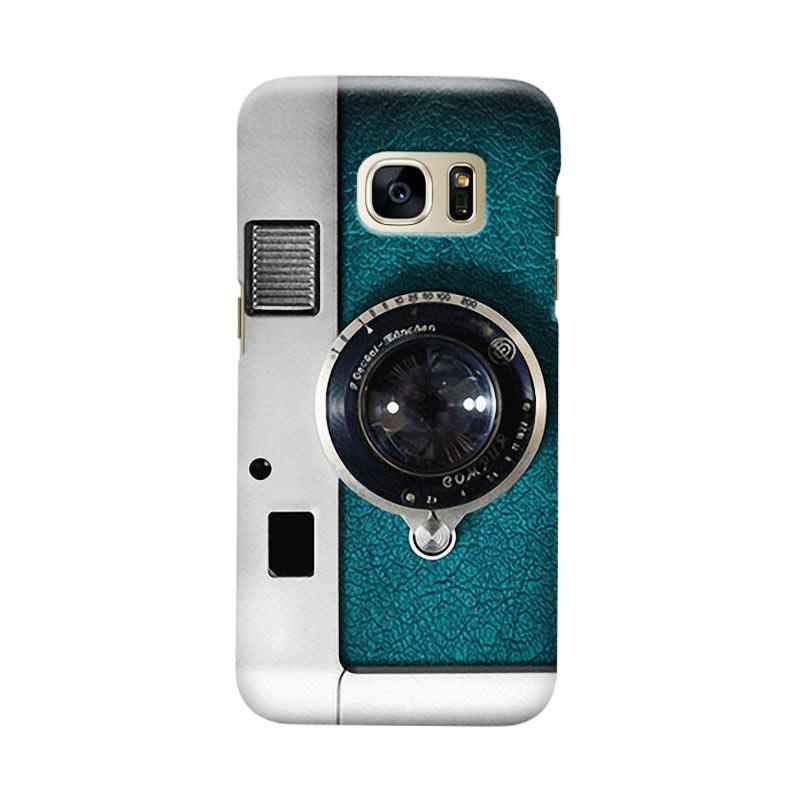 Indocustomcase Camera Green Casing for Samsung Galaxy S7 Edge