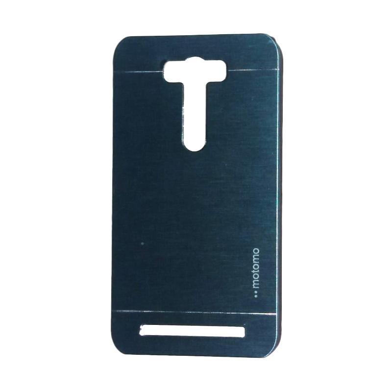 Motomo Metal Backcase Hardcase Casing for Asus Zenfone 2 Laser ZE500KL 5.0 Inch - Dark Blue