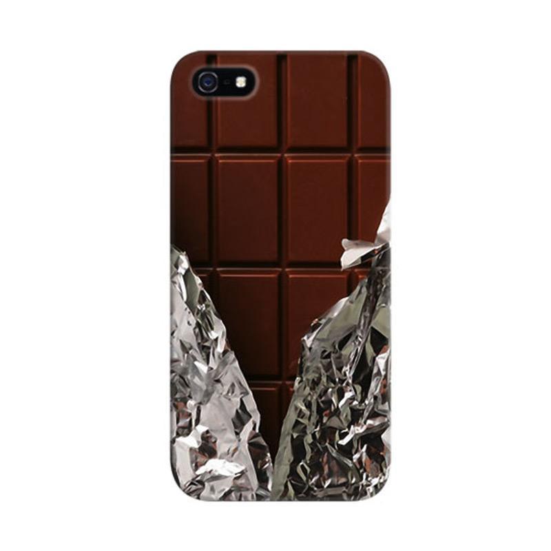 Indocustomcase Chocolate Custom Hardcase Casing for Apple iPhone 5/5S/SE