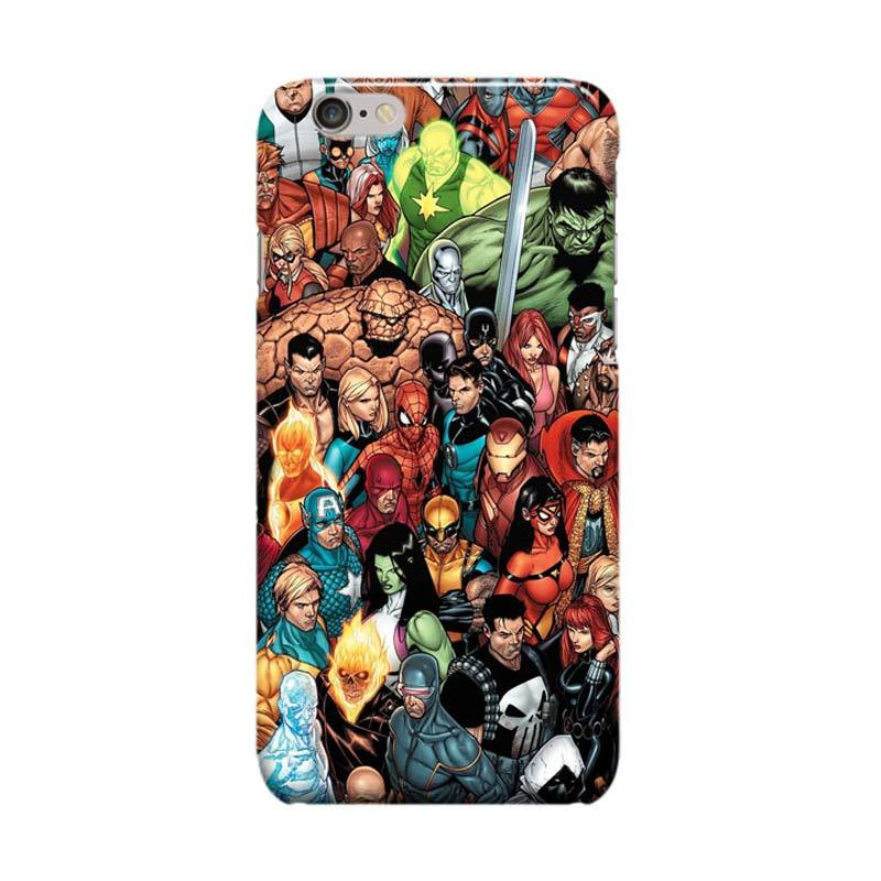 Indocustomcase Marvel Hero Cover Casing for iPhone 6 Plus or 6S Plus