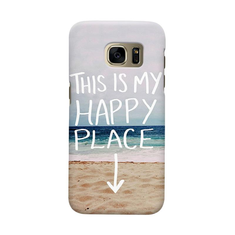 Indocustomcase My Happy Place Cover Casing for Samsung Galaxy S6