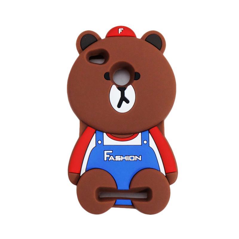 VR Karakter 3D Bear Fashion Edition Softcase Silicon Casing for Xiaomi Redmi 3X - Brown
