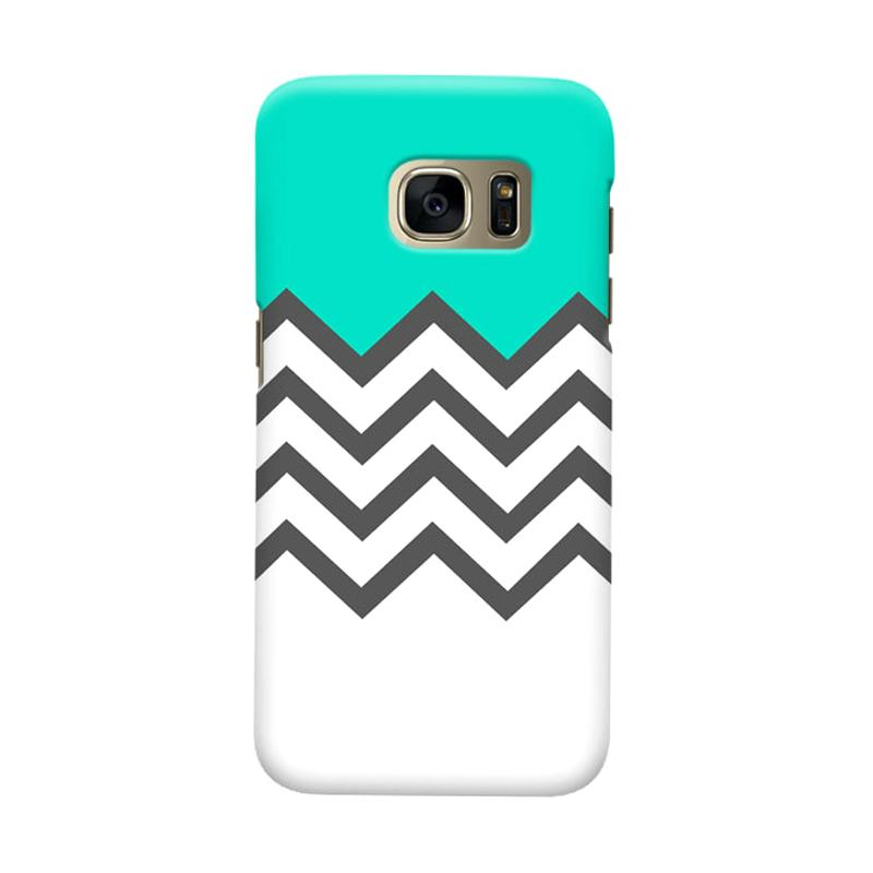 Indocustomcase Chevron Tosca Cover Casing for Samsung Galaxy S6
