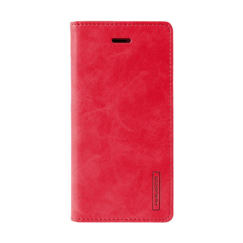 Mercury Goospery Bluemoon Flip Cover Casing for Samsung Galaxy J1 Ace - Merah