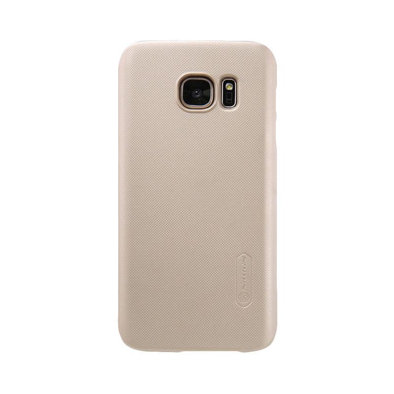 Nillkin Super Shield Original Hardcase Casing for Samsung Galaxy S7 Edge - Gold [1 mm]