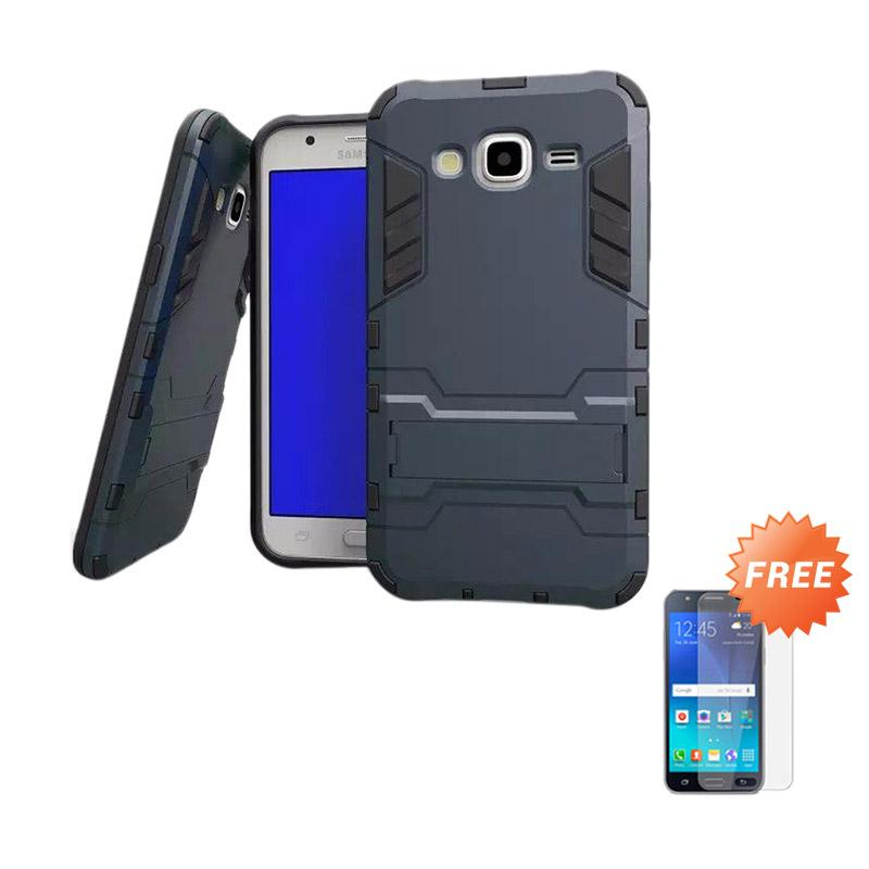 harga Case Shield Armor Kickstand Casing for Samsung Galaxy J2 - Hitam + Free Tempered Glass Blibli.com