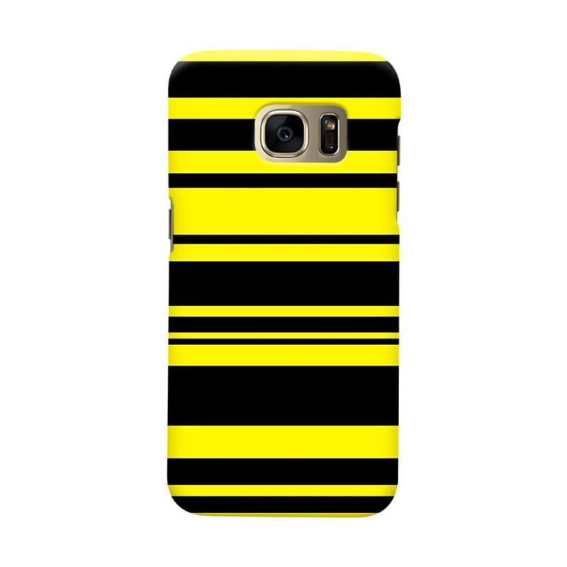 Indocustomcase BVB Stripe Cover Casing for Samsung Galaxy S6 Edge