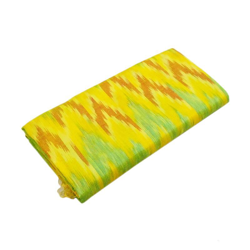 Tenun Sengkang IND-12506 Kain Tenun Ikat Meteran Khas Bugis Makassar - Kuning