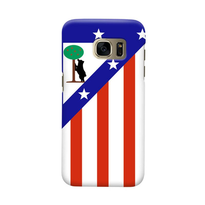 Indocustomcase Atletico Madrid Cover Casing for Samsung Galaxy S6 Edge