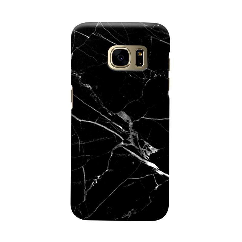 Indocustomcase Black Marble C2 Casing for Samsung Galaxy S7 Edge