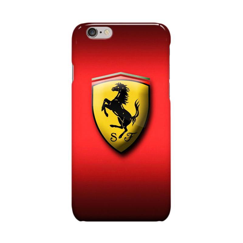 Indocustomcase Ferrari Logo Casing for Apple iPhone 6 Plus or 6S Plus