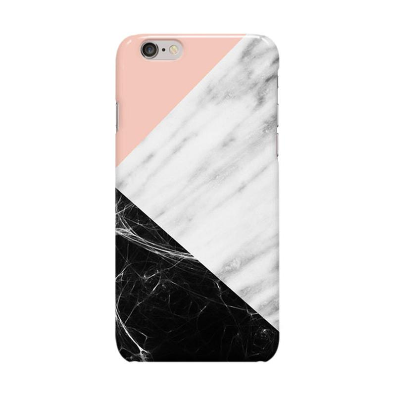 Indocustomcase Marble Collage Casing for Apple iPhone 6 Plus or 6S Plus