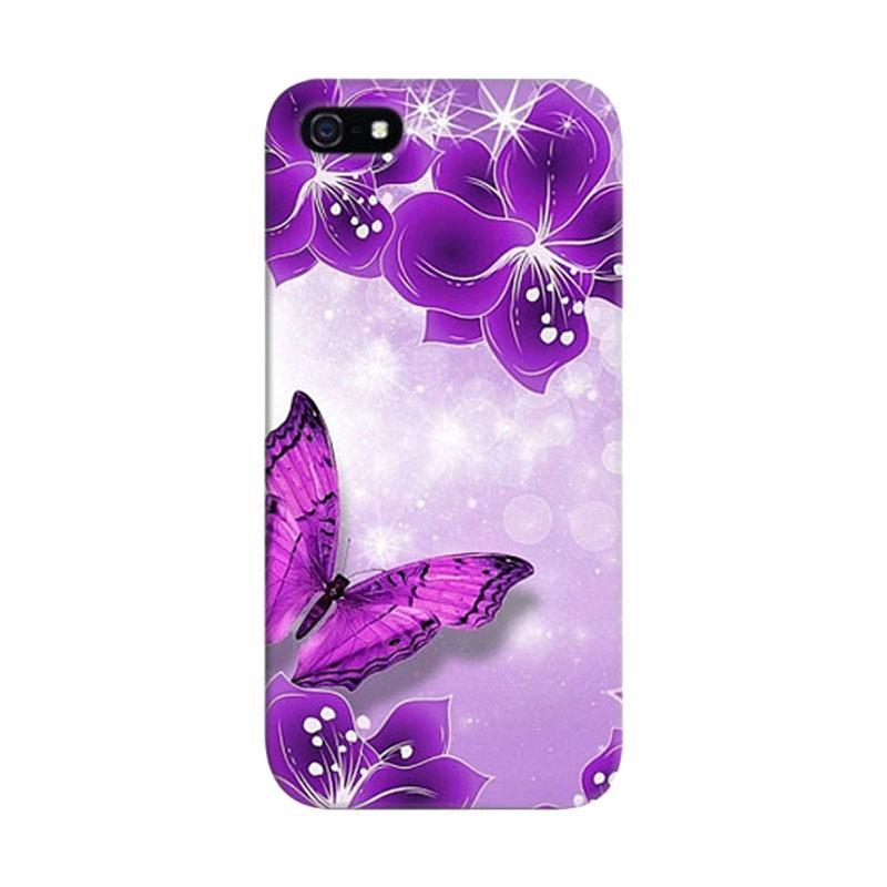 Indocustomcase Purpple Custom Hardcase Casing for Apple iPhone 5/5S/SE