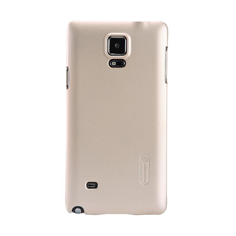 harga Nillkin Original Super Shield Hardcase Casing for Samsung Galaxy Note 4 - Gold [1 mm] Blibli.com