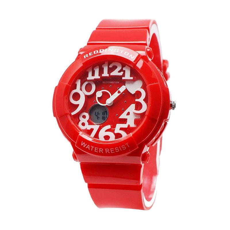 Reddington Ladies Sport D40H100RD1020LMRH Dualtime Rubber Strap Jam Tangan Wania