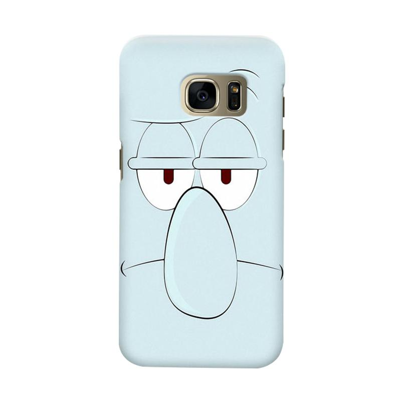 Indocustomcase Squidward Cover Casing for Samsung Galaxy S6 Edge