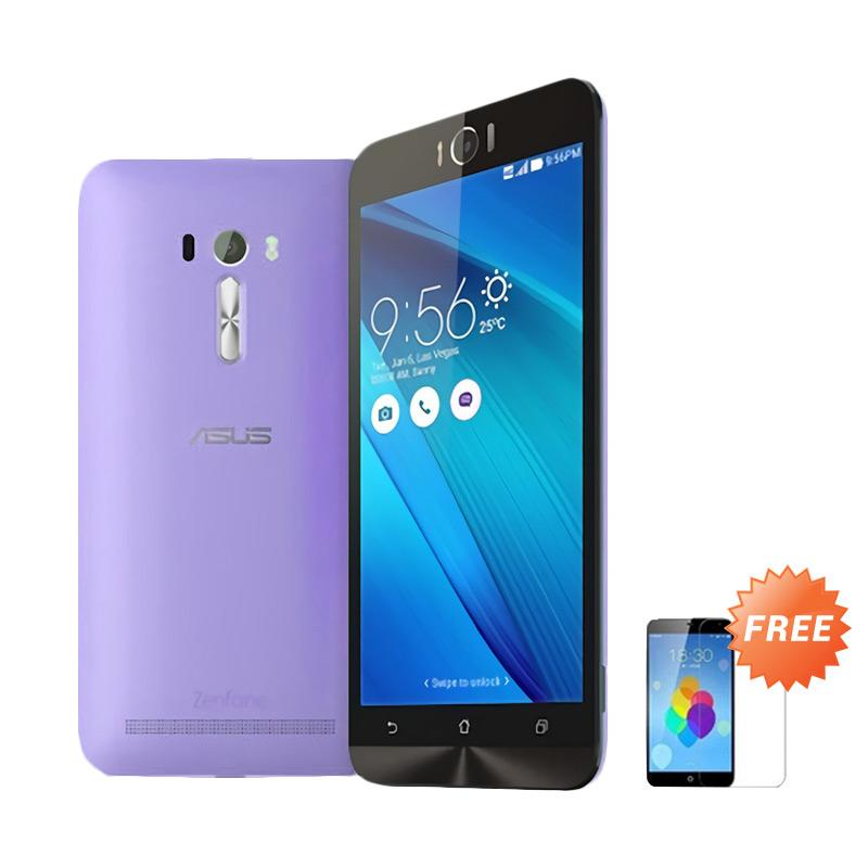 harga Ultrathin Aircase Casing for Asus Zenfone Laser 5.5 Inch - Purple Clear + Free Tempered Glass Screen Protector Blibli.com