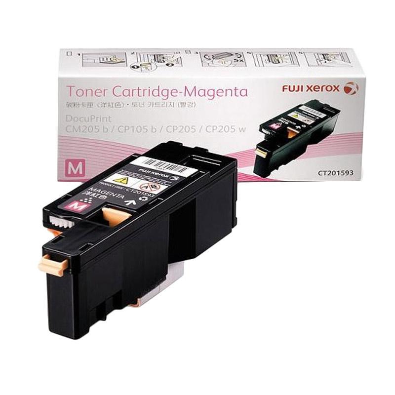 Fuji Xerox CT201593 Toner Cartridge for Printer Docuprint CP105B or CP215W - Magenta [1400 Halaman]