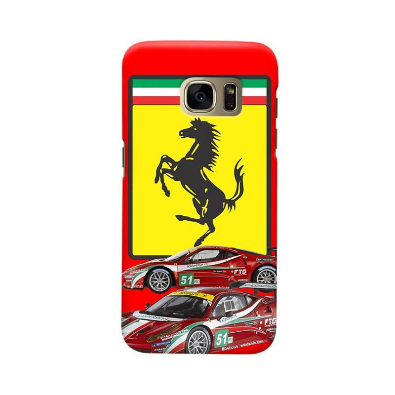 Indocustomcase Ferarri Sport Car Cover Casing for Samsung Galaxy S6