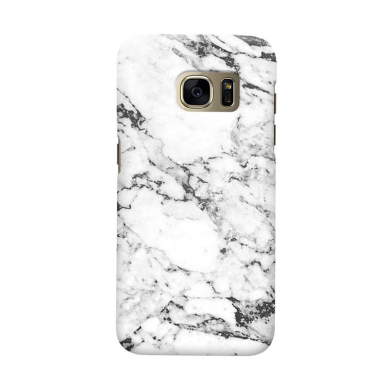 Indocustomcase White Marble Casing for Samsung Galaxy S7 Edge