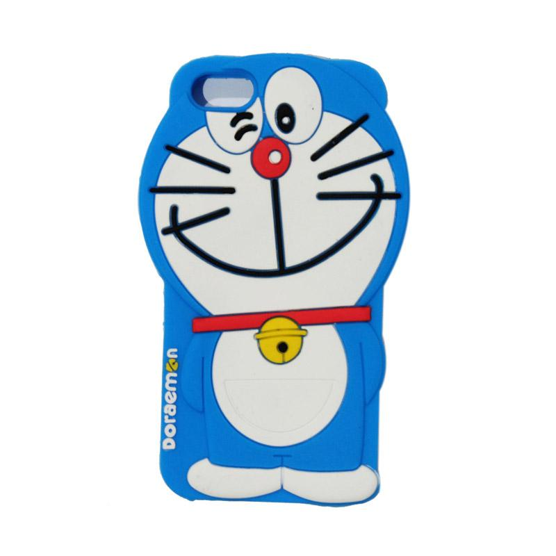 VR Silicon 3D Karakter Doraemon Edition Softcase Casing for Apple iPhone 5/5G/5S/5SE/5C - Blue