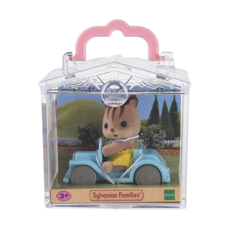 Sylvanian Families Baby Carry Case Squirrel on Car