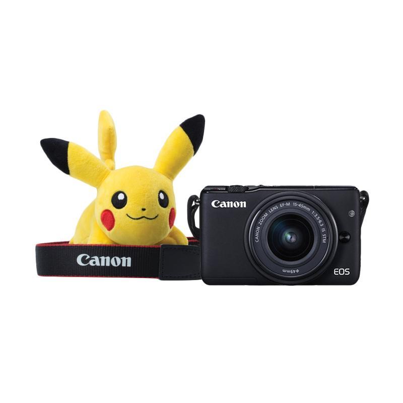 Canon EOS M10 Kit EF-M 15-45mm IS STM Kamera Mirrorless - Black + Free Pokemon Special Edition