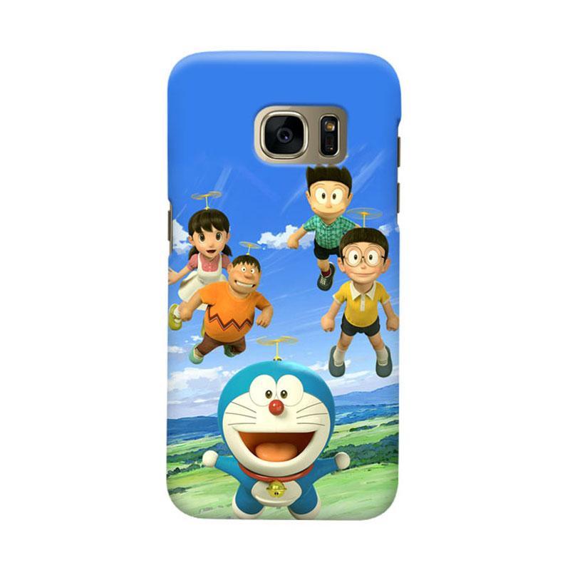 Indocustomcase Doraemon 3D Cartoon Cover Casing for Samsung Galaxy S7