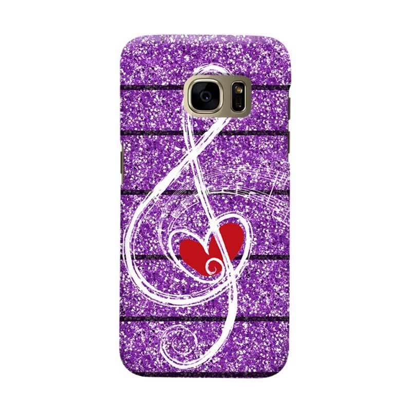 Indocustomcase Love Music Casing for Samsung Galaxy S7 Edge