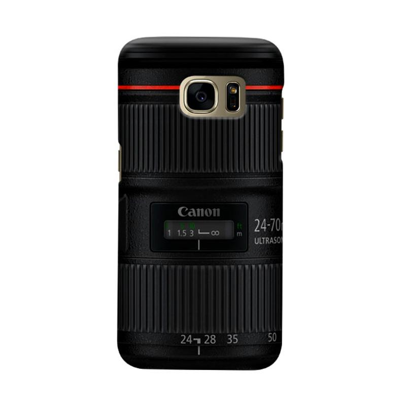 Indocustomcase Canon Tele Len Camera Cover Casing for Samsung Galaxy S7