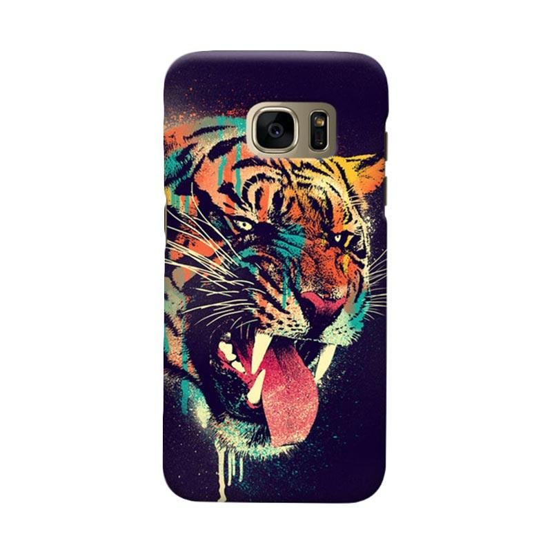 Indocustomcase Felicius Tiger Cover Casing for Samsung Galaxy S7