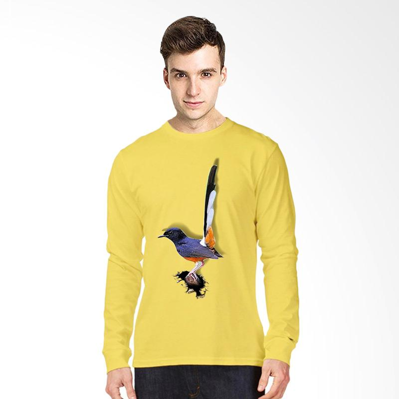 harga T-Shirt Glory Kaos 3D Burung Murai Batu Kaos Lengan Panjang Pria - Kuning Blibli.com
