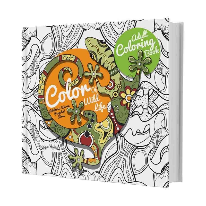Jual Huta Paint Adult Coloring Book Color Of Wild Life By Ranggi
