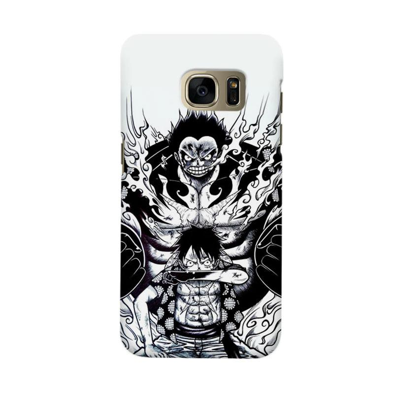 Indocustomcase Anime Luffy Art Cover Casing for Samsung Galaxy S6 Edge