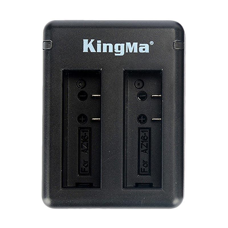 Kingma Dual Desktop Battery Charger For Xiaomi Yi 4K Mark II/Ver.2 Action Camera - Hitam