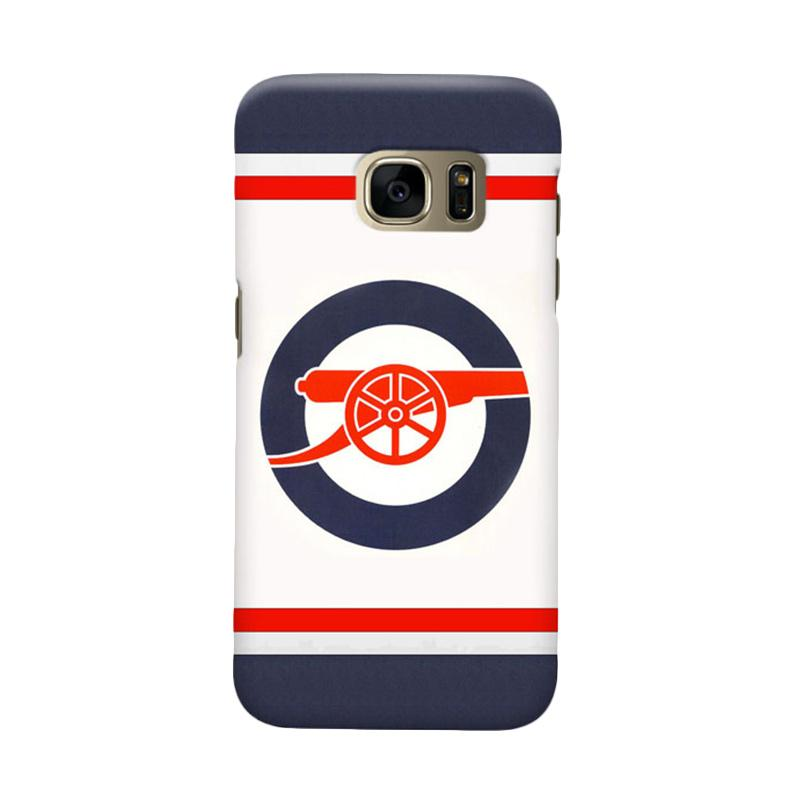 Indocustomcase Arsenal FC AFC07 Cover Casing for Samsung Galaxy S6 Edge