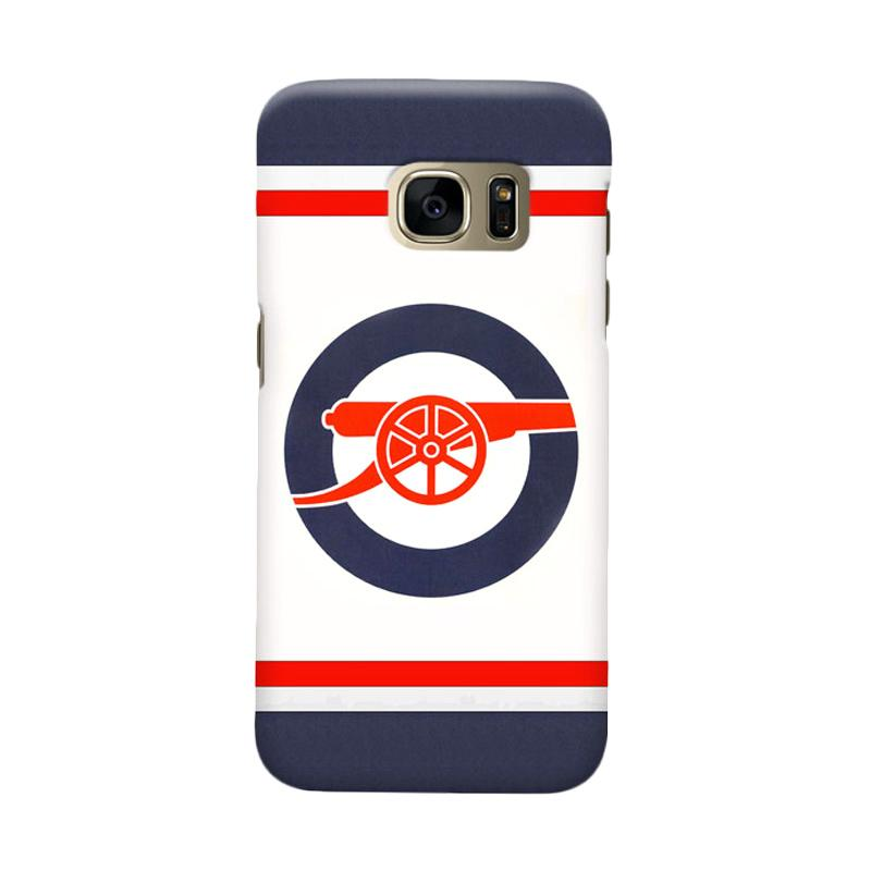 Indocustomcase Arsenal FC AFC07 Cover Casing for Samsung Galaxy S7 Edge