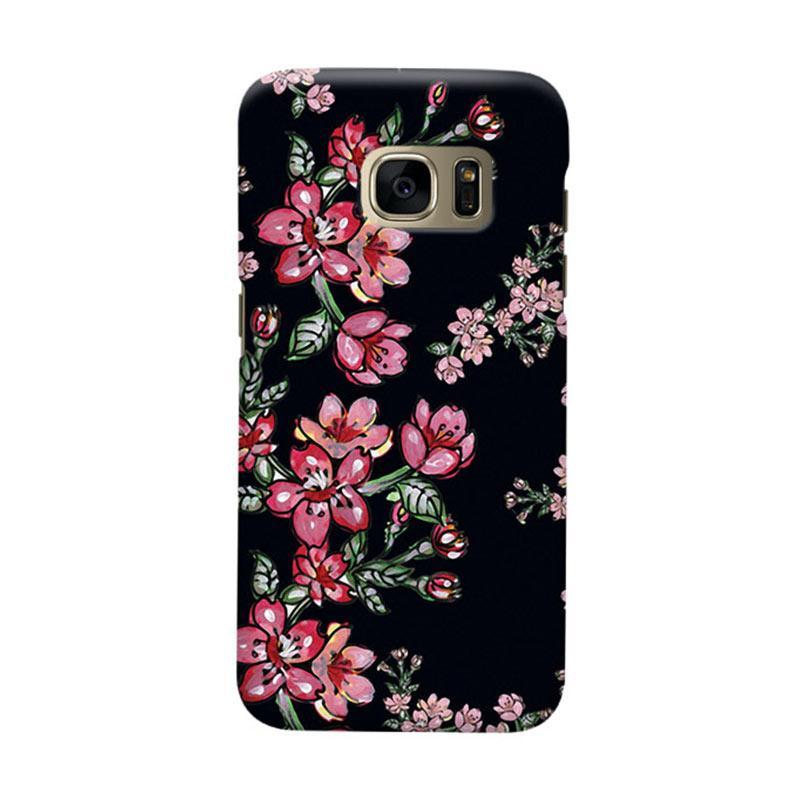 Indocustomcase Flower Elsa Cover Casing for Samsung Galaxy S7 Edge