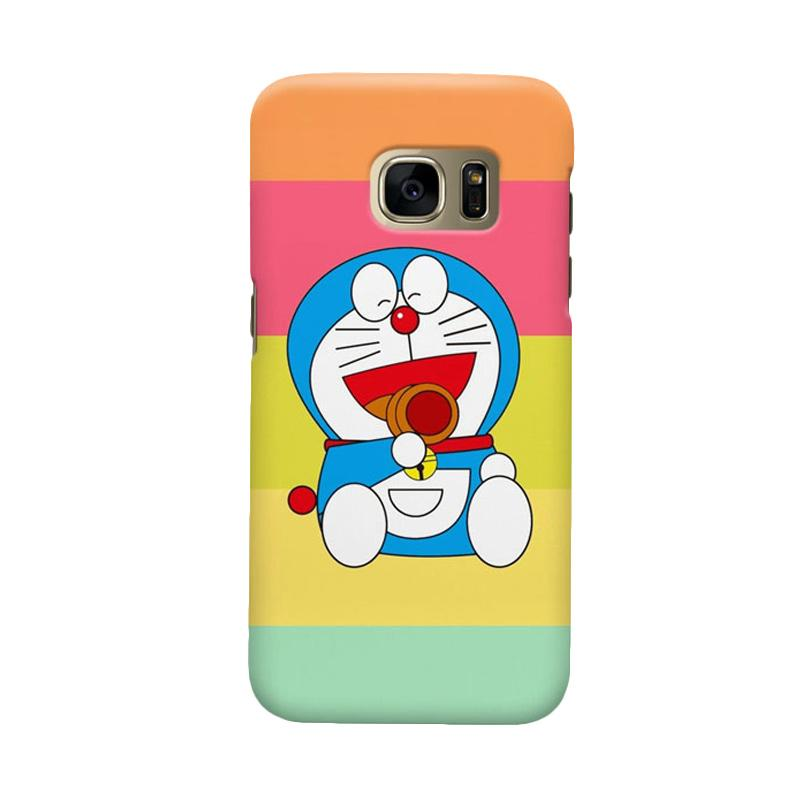 Indocustomcase Doraemon Lough Cover Casing for Samsung Galaxy S7