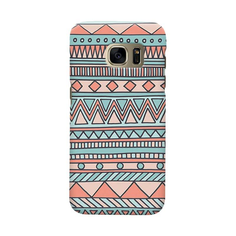 Indocustomcase Tribal Mint Casing for Samsung Galaxy S6 Edge