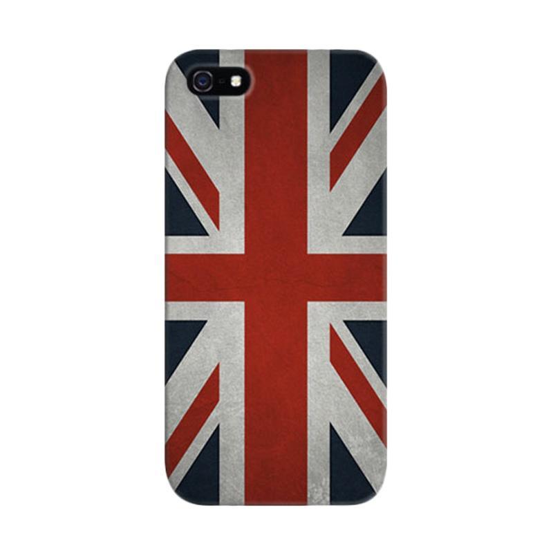 Indocustomcase Union Jack Custom Hardcase Casing for Apple iPhone 5/5S/SE