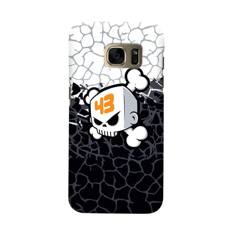 Indocustomcase Ken Block Skull Cover Casing for Samsung Galaxy S6