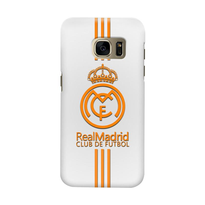 Indocustomcase Real Madrid FC RMA03 Cover Casing for Samsung Galaxy S6