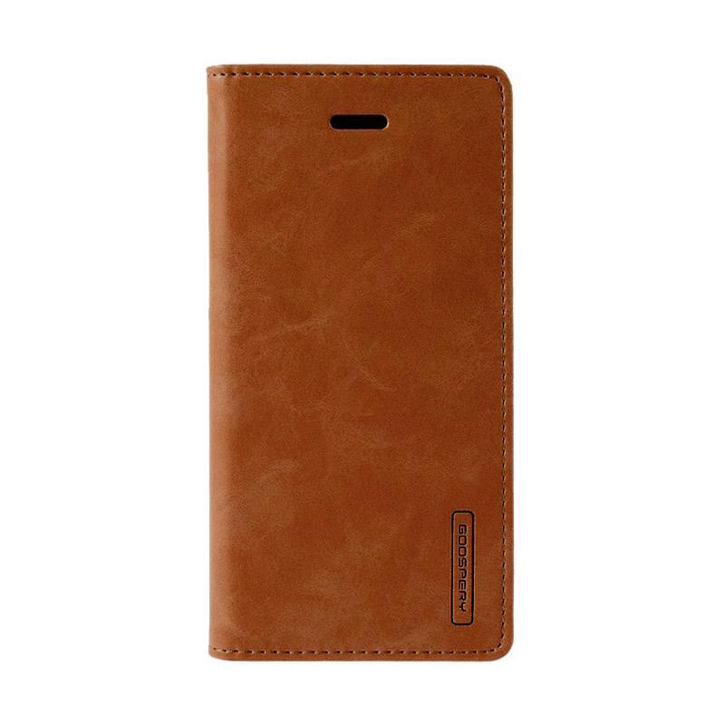 Mercury Goospery Bluemoon Flip Cover Casing for Xiaomi Redmi Note 4 - Cokelat