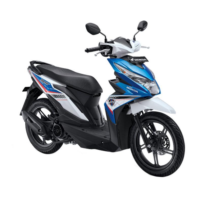 harga Honda All New BeAT eSP FI Sporty CBS Sepeda Motor Matic - Tecno Blue White [OTR Bandung] Blibli.com